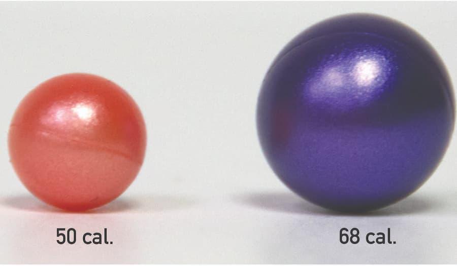 50 vs 68 caliber paintball