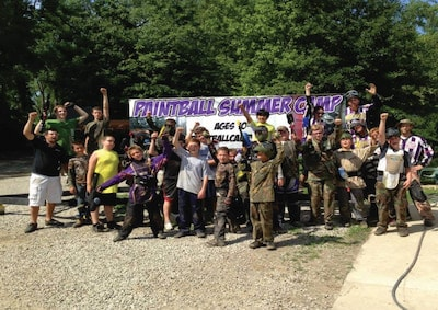 kids at paintball summer camp